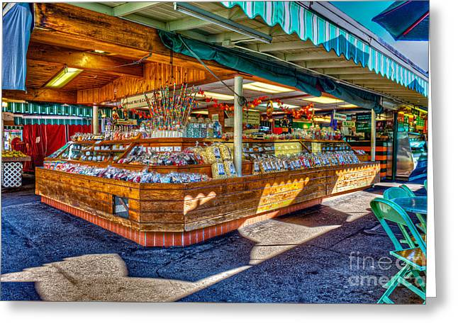 Fairfax Farmers Market Greeting Card by David Zanzinger
