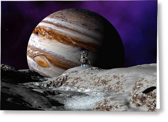 Falcon Over Europa Greeting Card