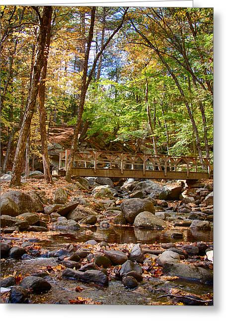 Fall Colors Over Trap Falls In Ashby Massachusetts Greeting Card by Jeff Folger