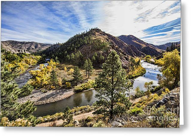 Fall On The Poudre Greeting Card by Keith Ducker
