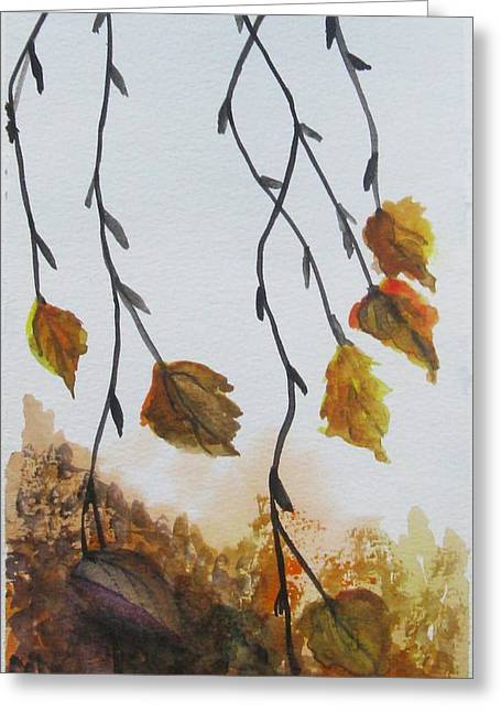 Greeting Card featuring the painting Fall by Trilby Cole
