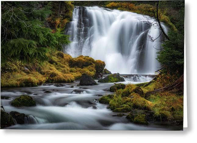 Falls Creek Greeting Card by Cat Connor