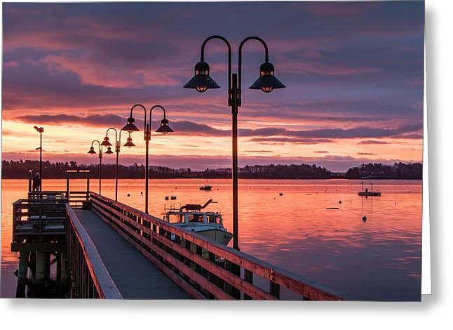 Falmouth Town Landing Sunrise Greeting Card