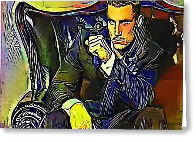 Greg Plitt  - My Www Vikinek-art.com Greeting Card by Viktor Lebeda