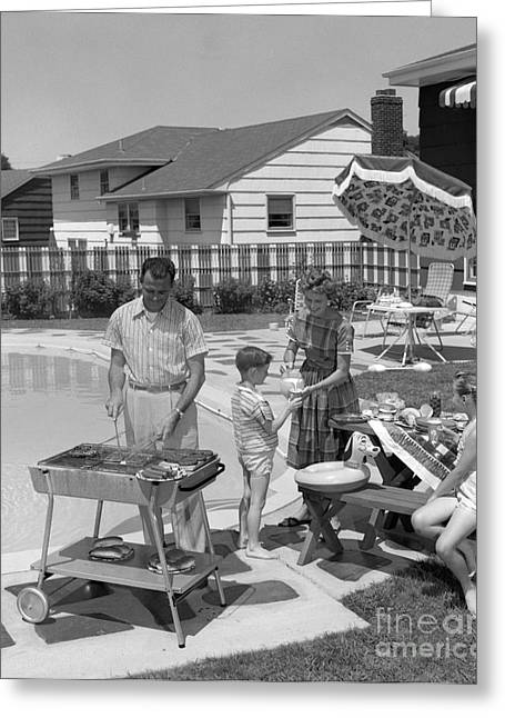 Family Cooking Out, C.1950s Greeting Card by H. Armstrong Roberts/ClassicStock
