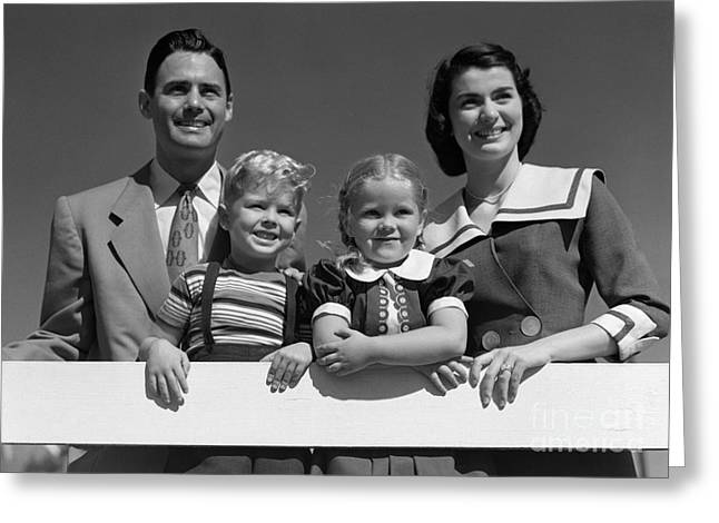 Family Portrait, C.1950s Greeting Card by H. Armstrong Roberts/ClassicStock