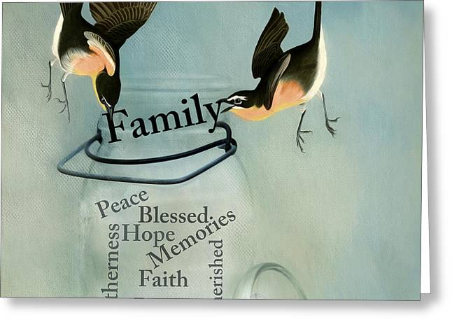 Greeting Card featuring the photograph Family by Robin-Lee Vieira