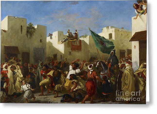 Fanatics Of Tangier Greeting Card by MotionAge Designs