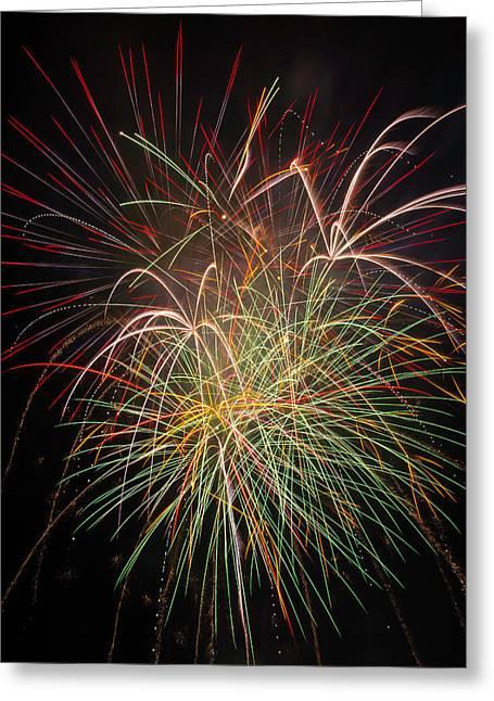 Fantastic Fireworks Greeting Card by Garry Gay