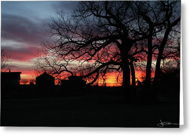 Farm Sunrise Greeting Card