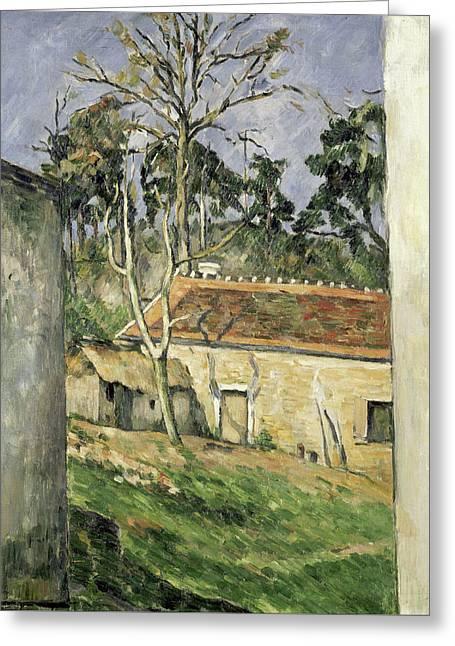 Farmyard Greeting Card by Paul Cezanne