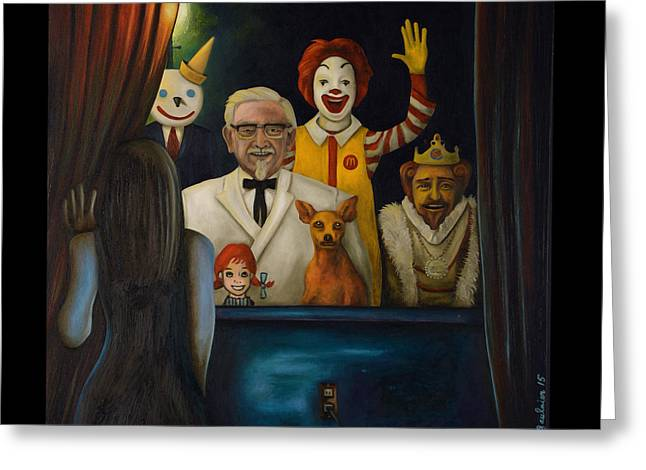 Fast Food Nightmare 4 Greeting Card by Leah Saulnier The Painting Maniac