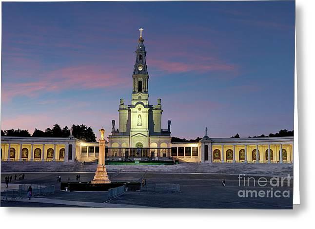 Fatima At Twilight Greeting Card by Mikehoward Photography