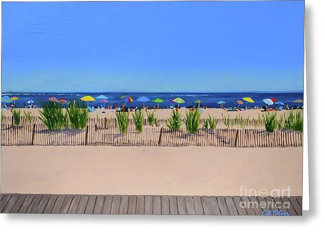 Favorite Beach Greeting Card by Elisabeth Olver