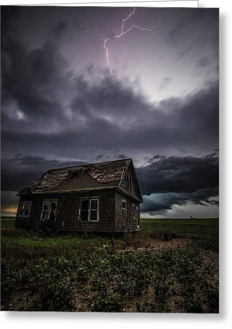 Greeting Card featuring the photograph Fear by Aaron J Groen