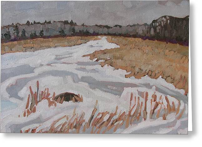 February Ice Greeting Card by Phil Chadwick