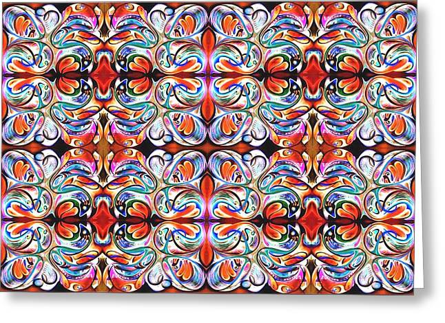 Feeding Tapestries - Textiles Greeting Cards - Feeding Frenzy Greeting Card by Ky Wilms