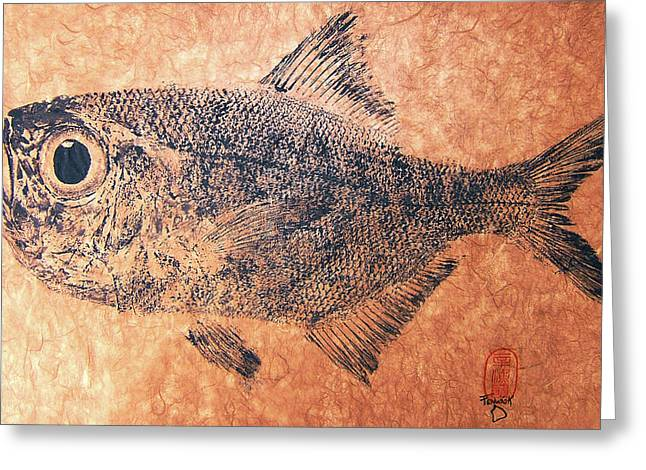 Fenwick Gyotaku Greeting Card by Sam Fenwick