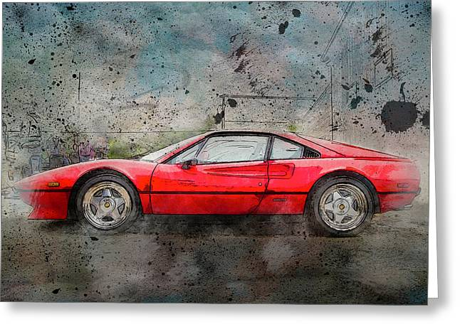 Greeting Card featuring the photograph Ferrari 308 by Joel Witmeyer