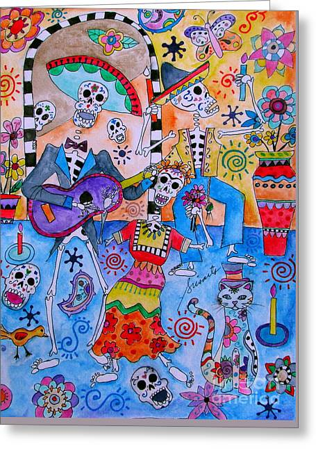 Fiesta Calaveras Greeting Card