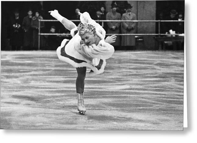 Figure Skater Melitta Brunner Greeting Card