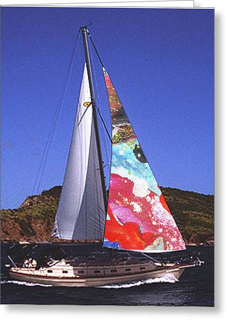 Fine Art Sails Greeting Card by Dan Cope