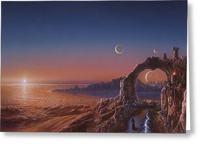 Fire Sanctuary Greeting Card by Don Dixon