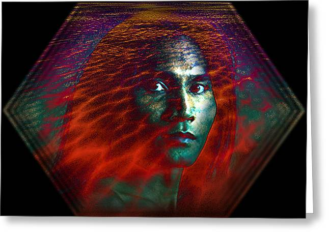 Greeting Card featuring the digital art Fire Within by Shadowlea Is