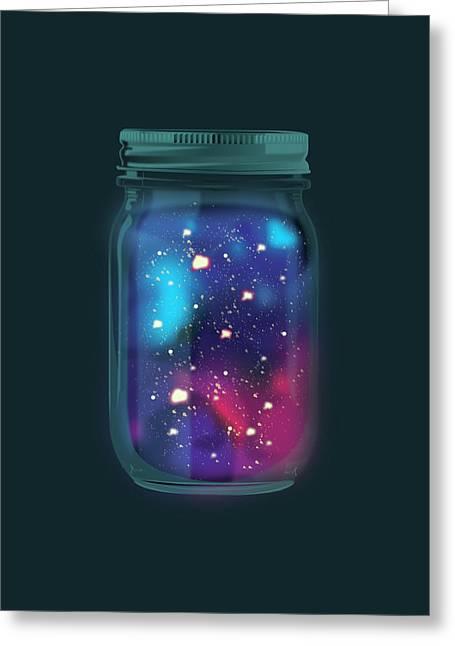 Firefly Galaxy Greeting Card by Katie Swick