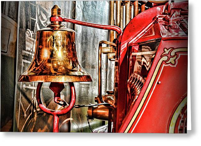 Fireman - The Fire Bell Greeting Card by Paul Ward