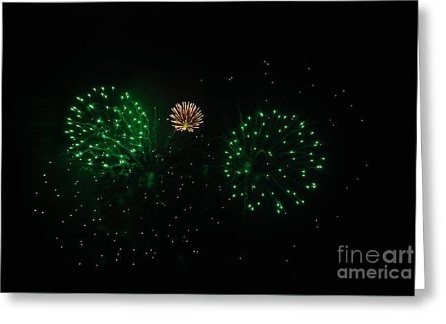 Fireworks Greeting Card by Joe Cashin