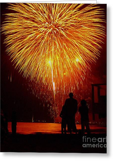 Fireworks Greeting Card by Marc Bittan