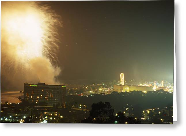 Fireworks - Ventura County Fair Greeting Card by Soli Deo Gloria Wilderness And Wildlife Photography
