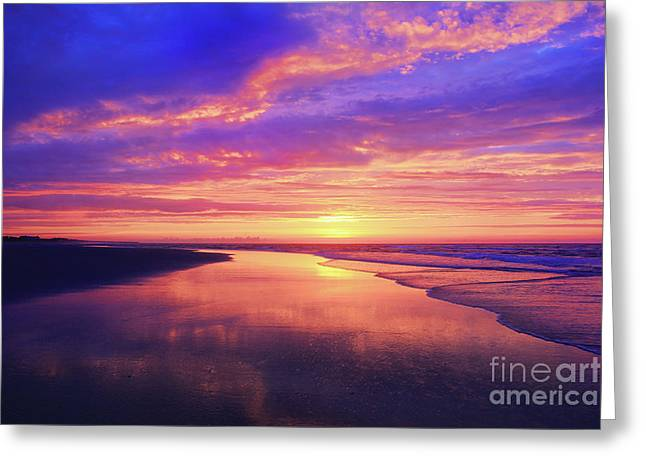 First Light At The Beach Greeting Card