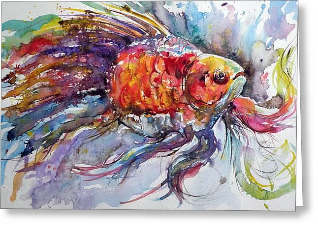 Fish Greeting Card by Kovacs Anna Brigitta