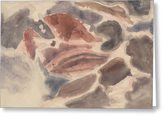 Fish Series, No. 2 Greeting Card by Charles Demuth