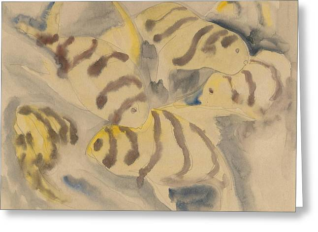Fish Series, No. 3 Greeting Card by Charles Demuth