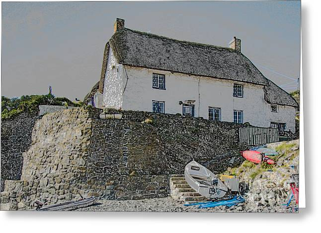 Greeting Card featuring the photograph Fishermans Cottage by Brian Roscorla