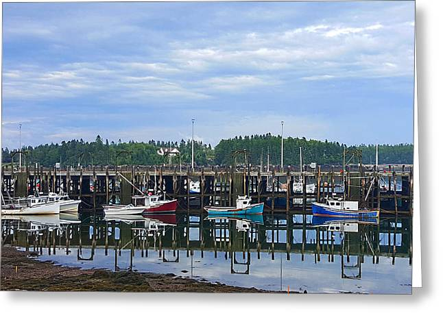 Fishing Boats - Beaver Harbour Greeting Card by Michael Graham