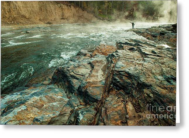 Greeting Card featuring the photograph Fishing Day by Iris Greenwell