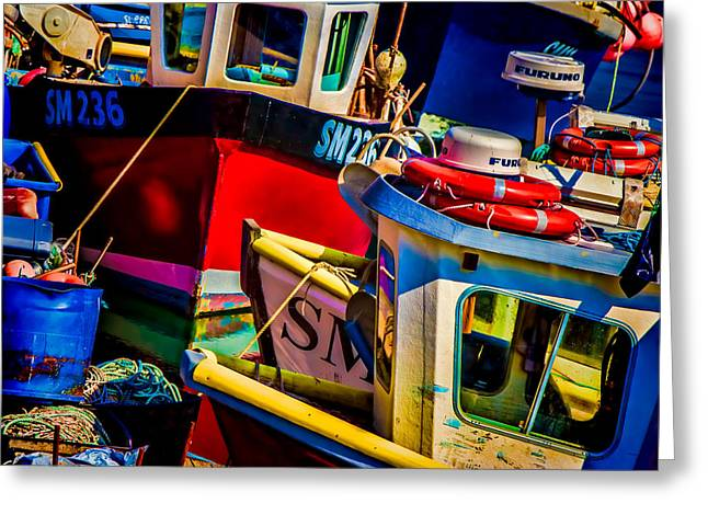 Fishing Fleet Greeting Card by Chris Lord