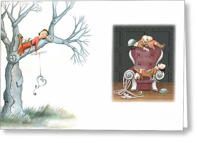Fishing For Love Greeting Card by Denise M Cassano