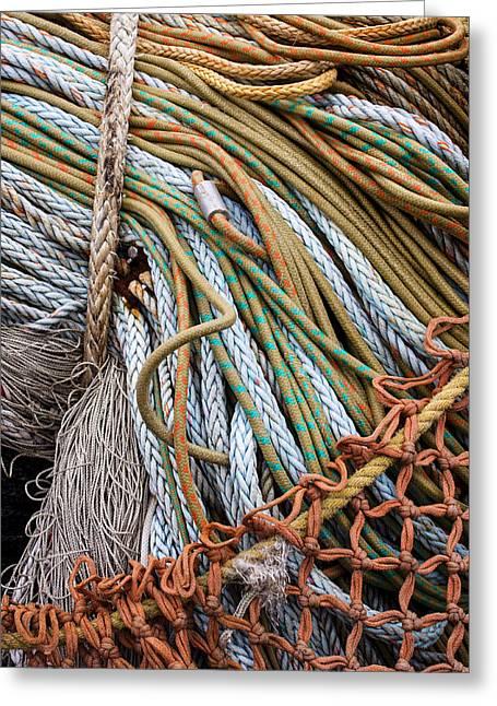 Fishing Nets Greeting Card by Carol Leigh