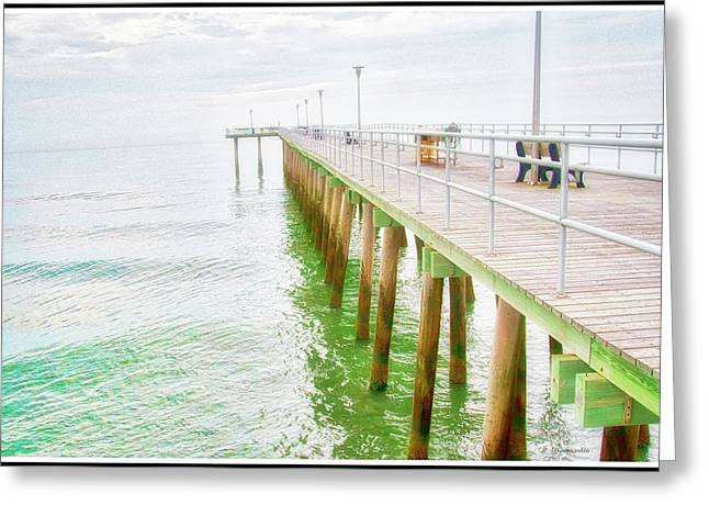 Fishing Pier, Margate, New Jersey Greeting Card