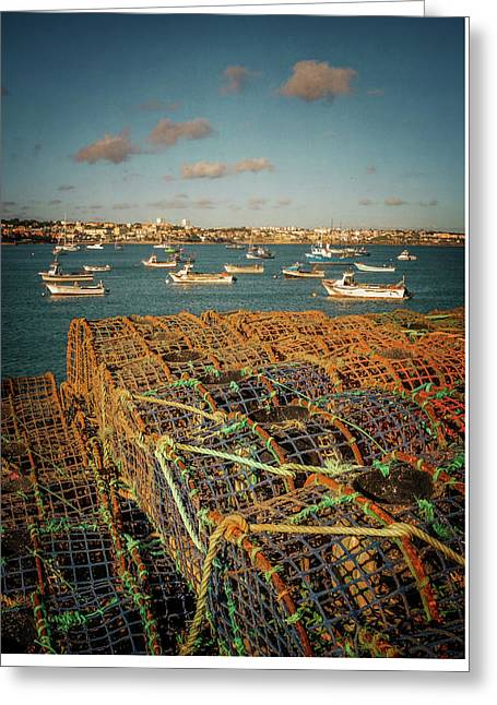 Fishing Traps In Cascais Greeting Card