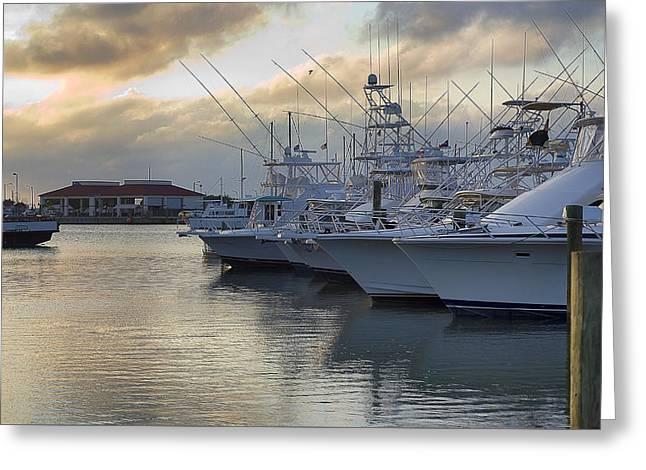 Fishing Yachts Greeting Card