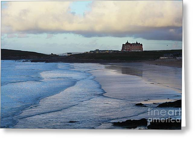 Greeting Card featuring the photograph Fistral Beach by Nicholas Burningham
