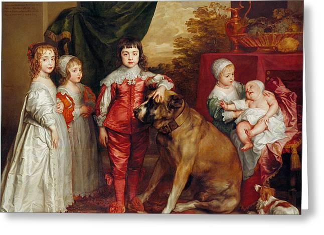 Five Eldest Children Of Charles I Greeting Card