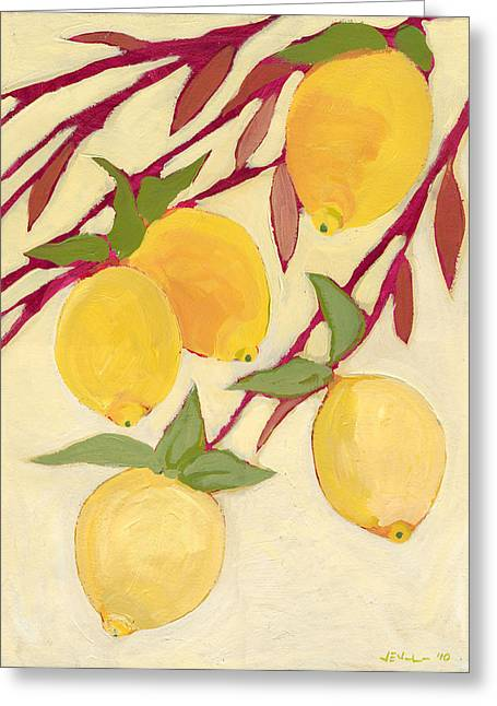 Five Lemons Greeting Card by Jennifer Lommers