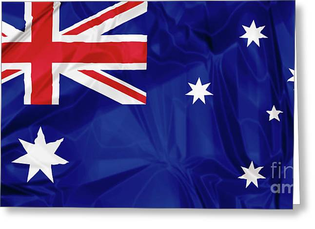 Flag Of Australia Greeting Card